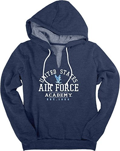 Force United Academy Air States - Bag2School United States Air Force Academy NCAA Falcons Fleece V-Notch Sweatshirt Hoodie (XL)