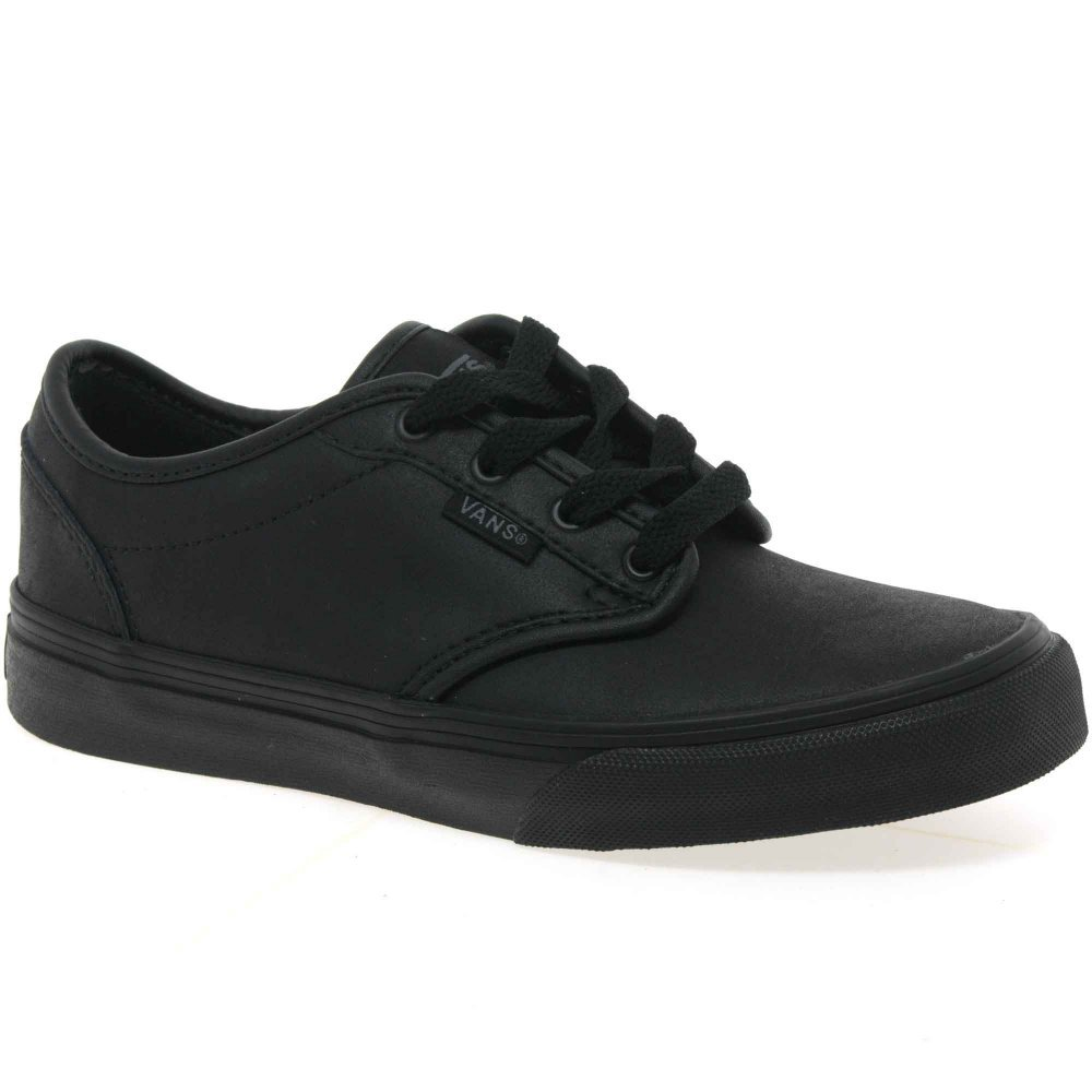 boys vans chaussures leather