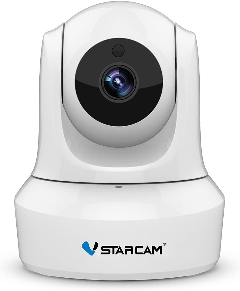 VStarcam 1080P WiFi IP Camera, Pan/Tilt/Zoom HD Wireless Indoor Camera with Night Vision, 2.4GHz Remote Monitor for Baby/Pet/Home Security (White)