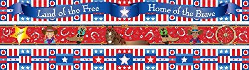 (Barker Creek Patriotic Border Set 3 Pack (Western, Americana, Home of The Brave) (BC3660))