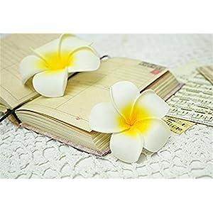100 Pcs Diameter 3.5 Inch Artificial Plumeria Hawaiian Foam Flower For Wedding Party Home Decoration 5