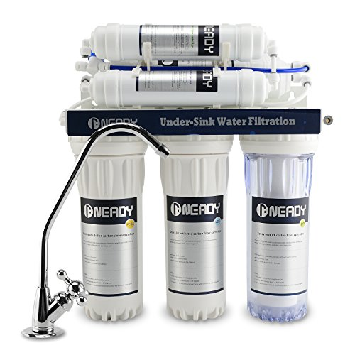 Neady 6 Stage Under Sink Water Filter with Beverage Faucet Reverse Osmosis Drinking Water Filtration System and Ultimate Water Softener RO Water Filter System with Drinking Faucet by Neady