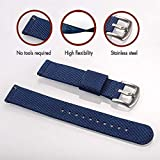 Torbollo Quick Release Watch Blue Bands, 22mm Watch Band, Quality Nylon Strap and Heavy Duty Brushed Buckle