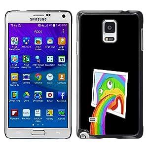 GIFT CHOICE / SmartPhone Carcasa Teléfono móvil Funda de protección Duro Caso Case para Samsung Galaxy Note 4 /Funny Abstract Pop Art Rainbow/
