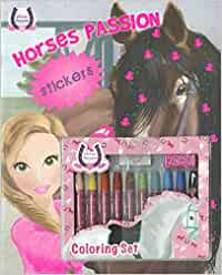 Horses passion Sticker miniset colorear