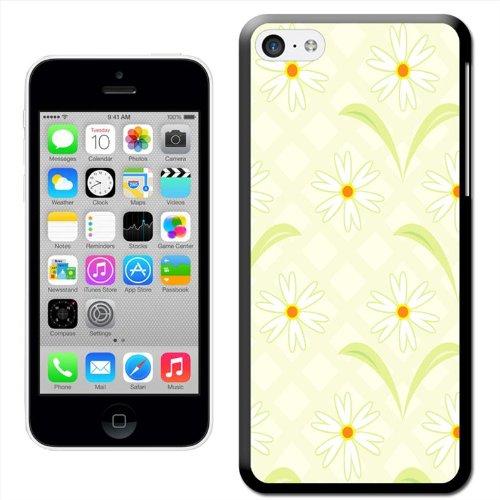 Fancy A Snuggle pâquerettes Vert Fond Coque arrière rigide à clipser pour Apple iPhone 5C