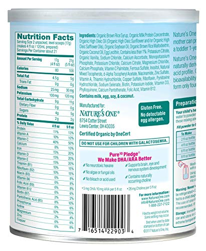 51wq9HTzjaL - Baby's Only Organic Baby's Only LactoRelief With DHA & ARA Toddler Formula - Non GMO, USDA Organic, Clean Label Project Verified, 12.7 Oz (Pack Of 6)