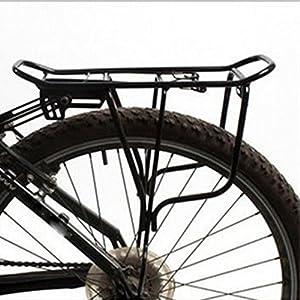 """Vibola Rear Bag Rack Alloy Bike Bicycle Seat Post Frame Carrier Holder (Diameter 33cm/12.99"""", Black)"""