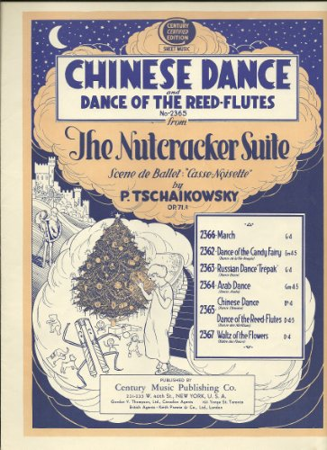 Flutes Reed - Chinese Dance and Dance of the Reed-Flutes from The Nutcracker Suite Vintage Illustrated Cover