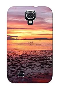 Excellent Galaxy S4 Case Tpu Cover Back Skin Protector Lake, Sun And Dusk