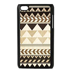Fayruz- Custom Ipod Touch 4 Plastic Case Cover (black) - Aztec Tribal Pattern