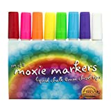The Best 8 Pack Liquid Chalk Markers - All Colors - 6mm Chisel Tip - Big and Skinny Writing - Water Based Ink Erasable for Chalkboards, White Boards, Signs, Labels, Plastic - Kid Friendly - White Marker - Easy to Use