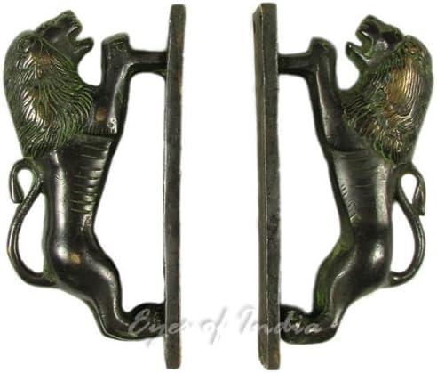 dor/é #2 Eyes of India 6 Paire Laiton Lion Poign/ées de Porte Armoire Bronze Ancien Indien Boh/ème Accent Bobo Chic Fait /à la Main 3.81 X 15.24 cm 1.5 X 6 in.