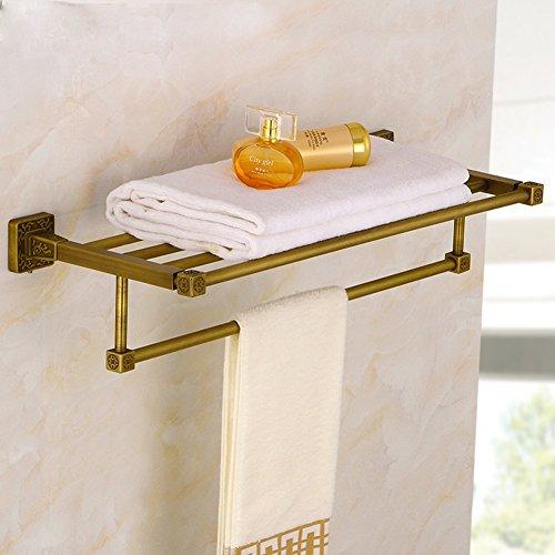 New KHSKX Copper Style Towel Rack Shelf Towel Rack Antique Vintage Bathroom  Towel Bar Bathroom