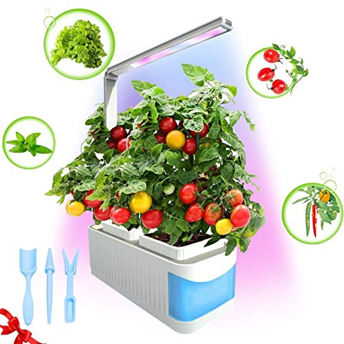Smart Indoor Garden Kit,Herb Garden Hydroponics Growing System,Xmas Led Desktop Growing Light for Home/Room/Kitchen/Office,Smart Indoor Herb Garden Grow Lamp for Flower/Fruit/Vegetable-(Blue)