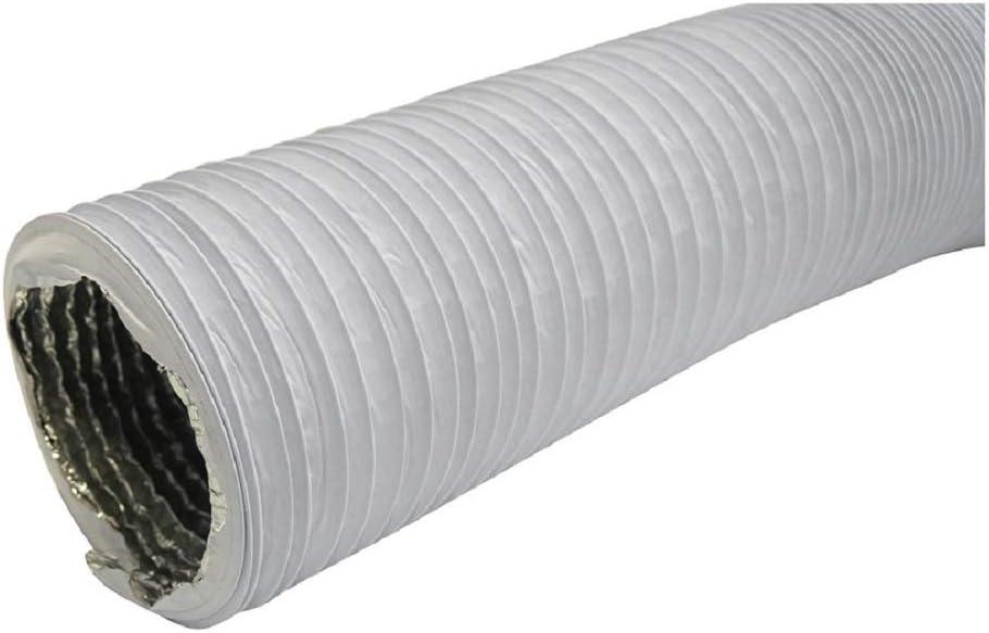 tubo flessibile in alluminio//PVC per asciugatrice Tubo di scarico diametro 102 mm cappa aspirante aria condizionata lunghezza 3 m con isolamento in alluminio