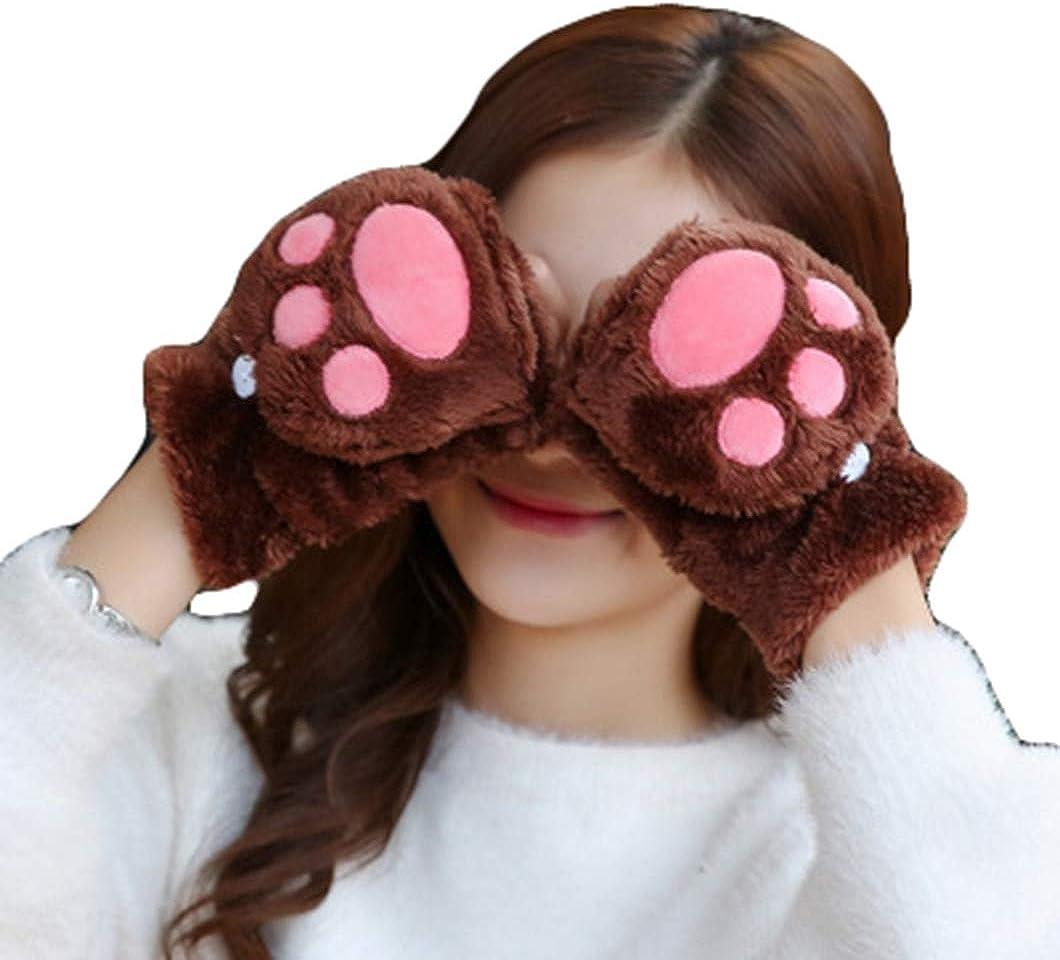 Women Warm Cute Cat Paw...