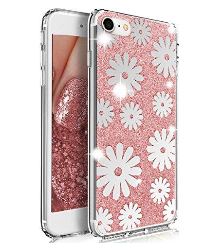 iPhone 7 Case,XIQI Shiny Bling Case for girls Slim…