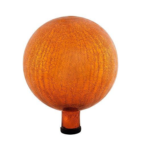 Achla Designs G10-M-C Gazing, Mandarin 10 inch Glass Garden Globe Ball Sphere, 10
