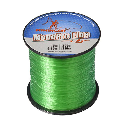 Monofilament Spool (FishingSir MonoPro Monofilament Fishing Line - Super Smooth Casting, Abrasion Resistant, Superior Strength Monofilament Custom Spool)