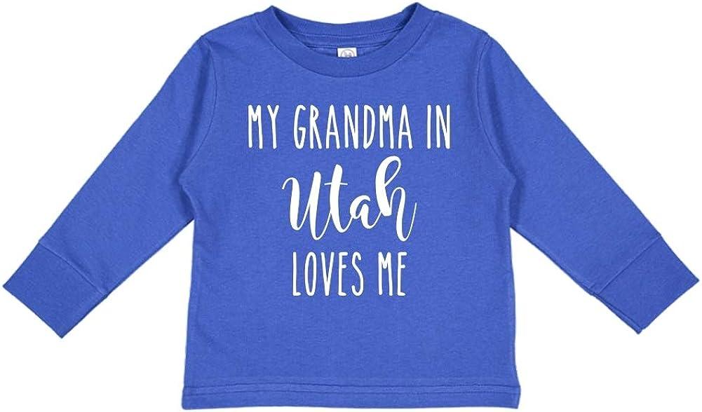 My Grandma in Utah Loves Me Toddler//Kids Long Sleeve T-Shirt