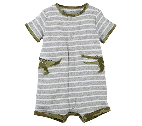 Carter's Baby Boys' Gator Side Applique Snap up Cotton Romper 24 Months