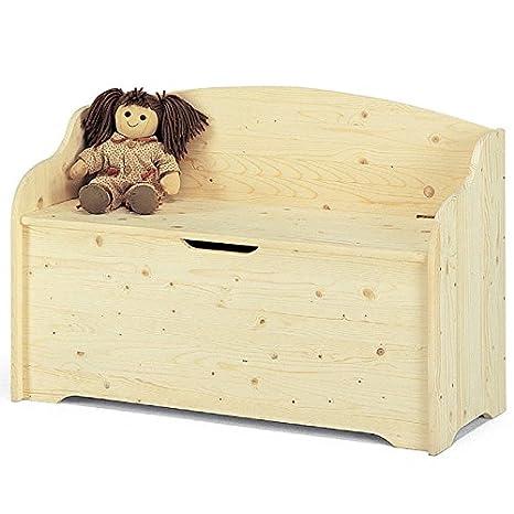Cassapanca per esterno baule contenitore in legno massello Cm ...
