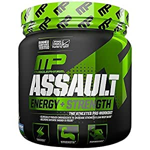 Muscle Pharm Assault Pre-Workout System, Blue Raspberry, 30 Servings, 0.96 Pound