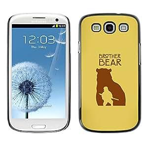 EJOY---Cubierta de la caja de protección la piel dura para el / Samsung Galaxy S3 / --Hermano Oso