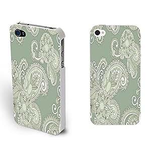 Design Phone Cases - Vintage Flowers Print Iphone 4 Case Pretty Girls Iphone 4s Floral Designer Hard Plastic Case Cover Skin (vogue flower art BY509)