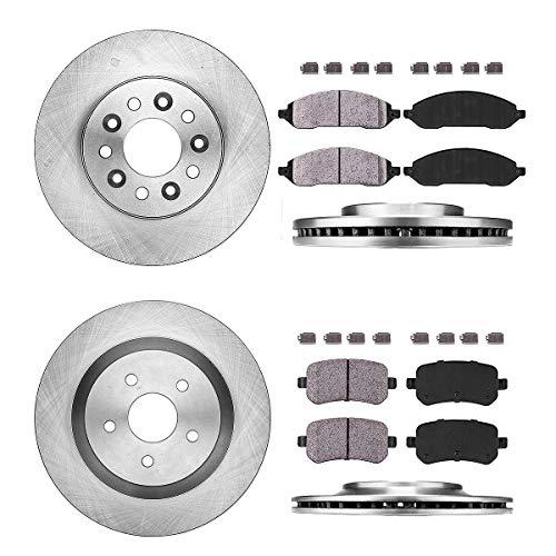 - FRONT 293.12 mm + REAR 315.98 mm Premium OE 5 Lug [4] Rotors + [8] Quiet Low Dust Ceramic Brake Pads + Clips