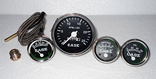 Case Tractor Gauge Set Temp Tachometer Oil Pressure Ammeter fits in 430,470,530C,CC,D,DC,DI,DO,L,LA,LAI,RC,S,SC,SI,SO,400,600+