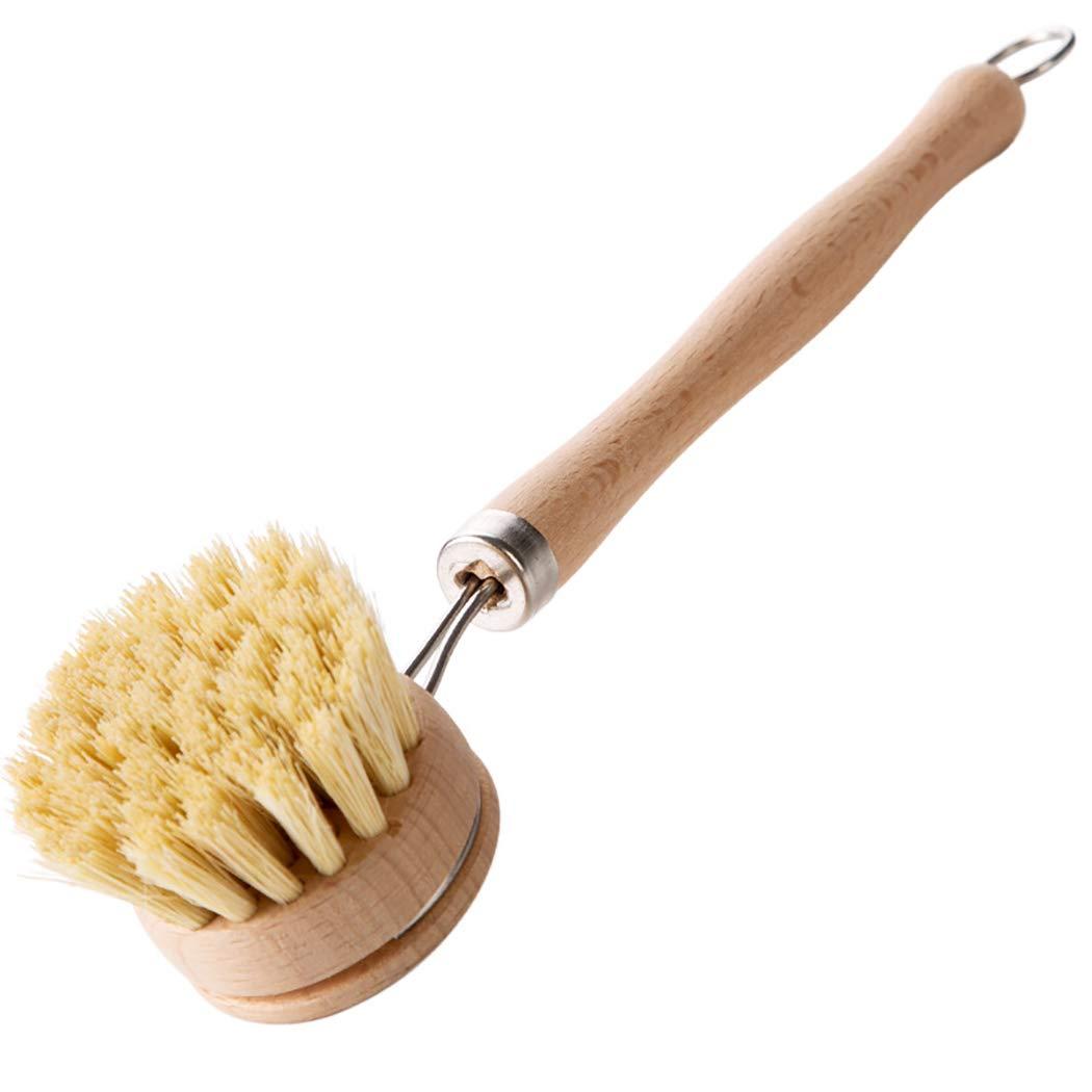 JUSTDOLIFE Dish Brush Multifunctional Handheld Long Handle Pan Brush Kitchen Cleaning Brush