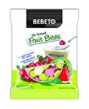 BEBETO All Natural Fruit Bites - PREBIOTIC - Watermelon and Cherry Flavored Candy with Fruit Juice and Yogurt - NO Artificial Colors - NO High Fructose Corn Syrup - 3.5 Oz (Pack of 12)