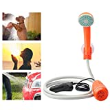 BEARHAM Portable Camping Shower, Battery Powered Outdoor Shower for Outdoors, Camping, Pet Cleaning, Car Washing, Plants Watering, Turns Water from Bucket/Sink Into Steady, Gentle Stream