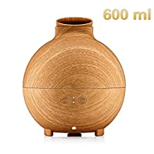 TinyMuse 600ml Large Capacity Essential Oil Diffuser, Aromatherapy Oil Diffuser, Cool Mist Humidifier, Energy Saving and Auto Shut-off Function