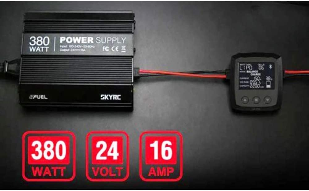 and Overload//Error Indication Short-circuit Protection SKYRC eFuel 380W 24V 16A Power Supply with Active PFC Features