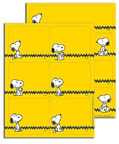 Eureka Peanuts Yellow Stickers, Label (656142)