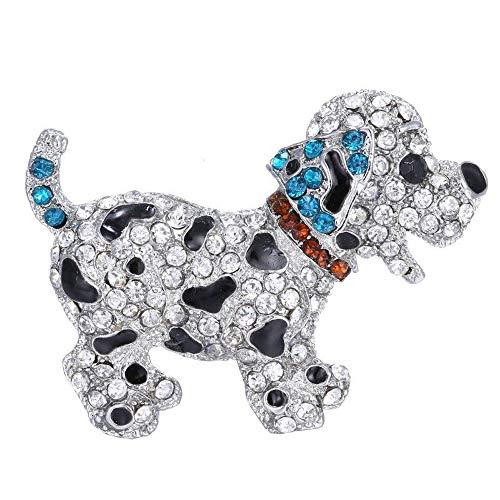 Dog Pendant Brooch Pin Fashion with Bling Rhinestones
