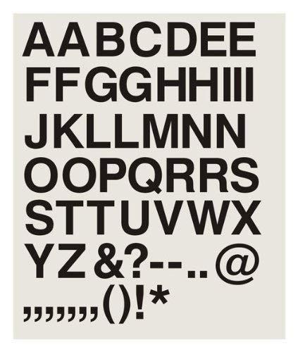39 letras autoadhesivas de vinilo de 15,24 cm, color negro ...