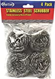 LavoHome Stainless Steel 2.75 Inch Scrubber Sponges (6 Packs of 4, 24 Pieces Total)