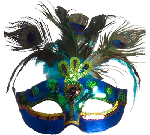 Amscan Womens Peacock Feather Mask (365712) Halloween Costume Accessory -