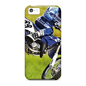 Tpu Case Cover For Iphone 5c Strong Protect Case - High Quality Motocross Design