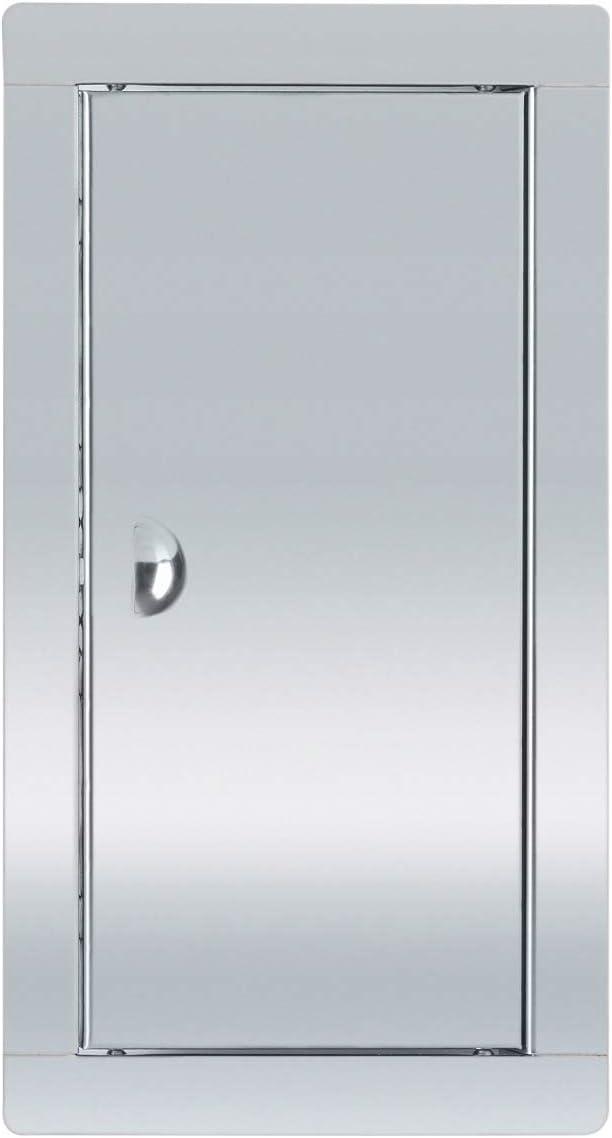 ADGO Puerta de inspección de acero inoxidable con cerrojo plateado (15 x 30)