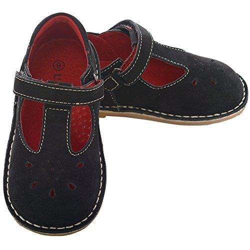 (L'Amour Black Nubuck T Strap Shoe Toddler Girl 8 )