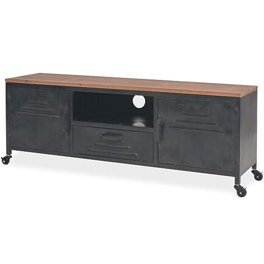 yorten - Mueble de TV (120 x 30 x 43 cm), Color Negro: Amazon.es ...