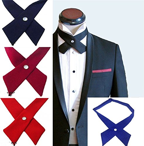 Tie Bowtie Pre Cross L Adjustable Black Bow tie Mens amp;L® Cravat Unisex UK Necktie bow wwpqzctC