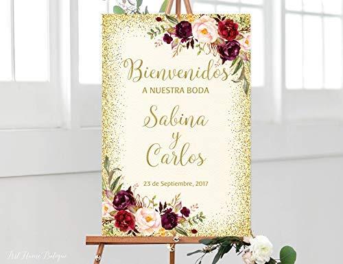 weewen Bienvenidos A Nuestra Boda Cartel de Bienvenida a ...