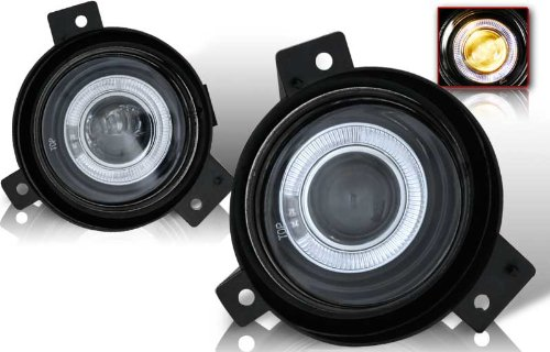 05 Projector Fog Lights - 01-05 Ford Ranger Halo Projector Fog Lights Clear Lens Pair