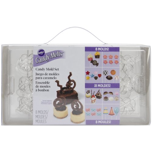 Wilton 2115-0030 Candy Mold Party Pack, 8-Pack